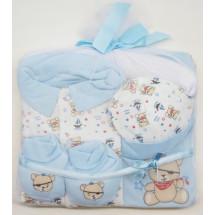 Подарочный комплект для малышей голубой мишка