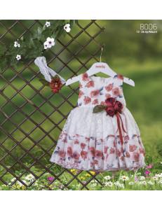 """Платье нарядное bebus белого цвета """"Розы"""""""