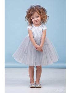"""Платье нарядное серебристое для малышек """"Иванка"""""""